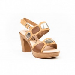 Sandalia óvalos metalizados - Angelitos - EVA-1235