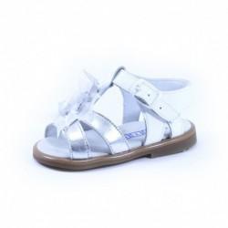 Sandalia niña detalles plata, fabricado en españa-ALM-2011