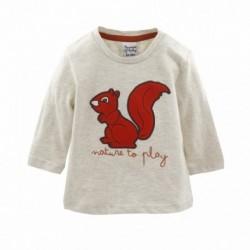 Camiseta algodón ardilla manga larga-ALM-BBI05018