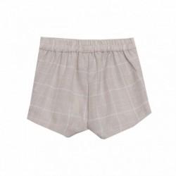 Comprar ropa de niño online Pantalon corto beige cuadros