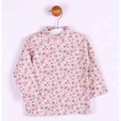 Camiseta cuello cisne estampado flores-ALM-BGI02536