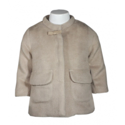 Abrigo cierre botones y bolsillos delanteros-ALM-BGI03523
