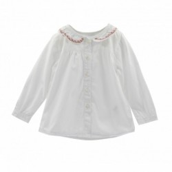 Camisa manga larga detalle cuello y bajo puntilla-ALM-BGI05534
