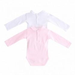 Bodys cuello bebe lisos pack de 2 pcs-ALM-BGI77504