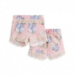 Pantalón corto para vestir detalle volantes de encaje-ALM-BGV98575