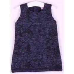 Vestido desmangado estampado jacquard-ALM-JGI02747
