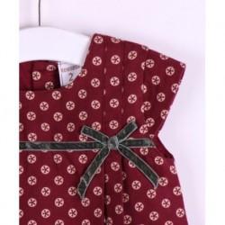 Vestido manga corta detalle lazo contraste y estampado-ALM-JGI04726