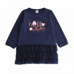 Comprar ropa de niño online Vestido sudadera con lazo con falda