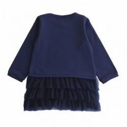 Vestido sudadera con lazo con falda tul volantes-ALM-JGI67803
