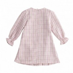 Vestido dulce 2 lazos estampado cuadros-ALM-JGI97738