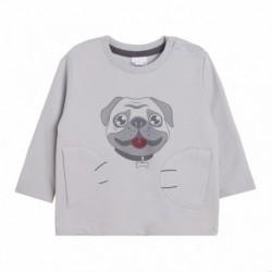 Comprar ropa de niño online Sudadera rizo cara de perrito -
