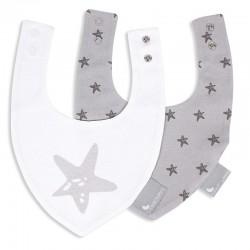 Comprar ropa de niño online Pack 2 Baberos bandana estrellas