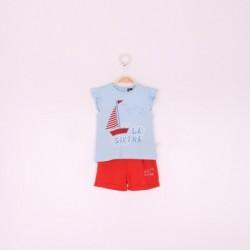 Comprar ropa de niño online Conjunto corto niña Sea sound-