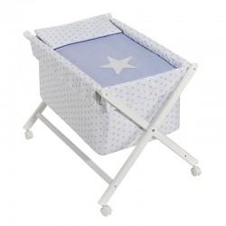 Comprar ropa de niño online Minicuna tijera madera estrella