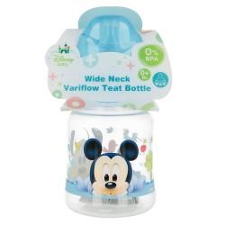 Biberon cuello ancho 150 ml | tetina silicona 3 posiciones mickey mouse - disney - baby paint pot-STI-39801-Disney
