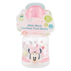 Biberon cuello ancho 150 ml | tetina silicona 3 posiciones minnie mouse - disney - baby paint pot-STI-39901-Disney