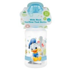 Biberon cuello ancho 240 ml | tetina silicona 3 posiciones mickey mouse - disney - baby paint pot-STI-39802-Disney