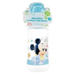 Biberon cuello ancho 360 ml | tetina silicona 3 posiciones mickey mouse - disney - baby paint pot-STI-39803-Disney