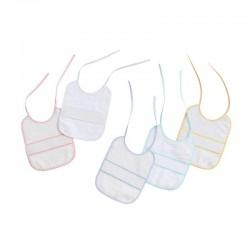 Comprar ropa de niño online Pack 2 baberos punto de