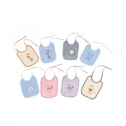 Comprar ropa de niño online Pack 3 baberos rizo 20x25 modelos
