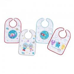Comprar ropa de niño online Pack 3 baberos rizo plastificado