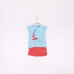 Comprar ropa de niño online Conjunto niña pantalón corto y