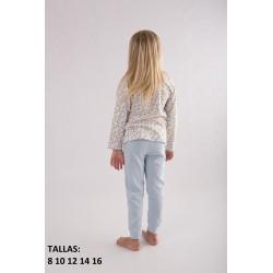 Comprar ropa de niño online Pijama largo niña lemons and