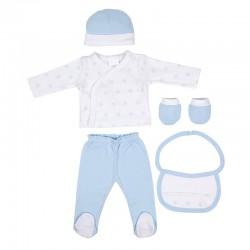 Comprar ropa de niño online Set regalo bebe 5 piezas 100%