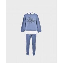 Comprar ropa de niño online Conjunto niña sudadera y malla be