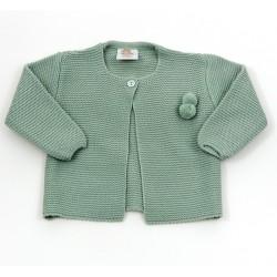 Comprar ropa de niño online Chaqueta bebé unisex boton cuello
