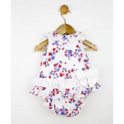 Comprar ropa de niño online Conjunto bebé vestido desmangado y