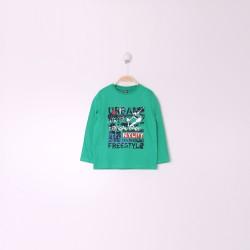 Comprar ropa de niño online Camiseta niño ml cuello redondo