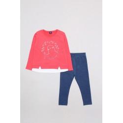 Comprar ropa de niño online Conjunto largo niña color unico