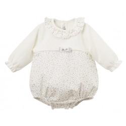 Comprar ropa de niño online Pelele corto manga larga cuello