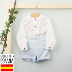 Comprar ropa de niño online Conjunto camisa cuello mao