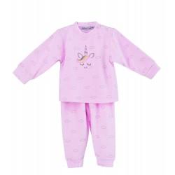 Pijama largo tundosado Mariposas Calamaro