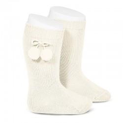 Calcetines altos algodón cálido con borlas - Condor