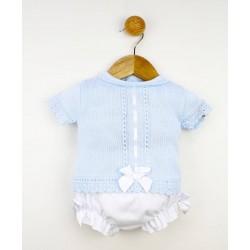 Conjunto 2 piezas corto bebé tejido combinado-ALM-22903-TONY