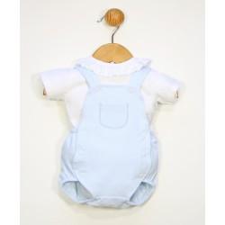 Conjunto corto bebé 2 piezas cuello volante-PPV-24491-Popys