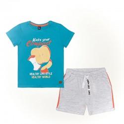 Conjunto corto algodón chico: camiseta manga corta y pantalón