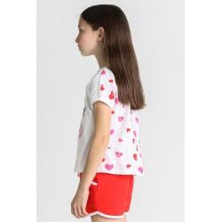 Conjunto corto algodón chica: camiseta manga corta y short